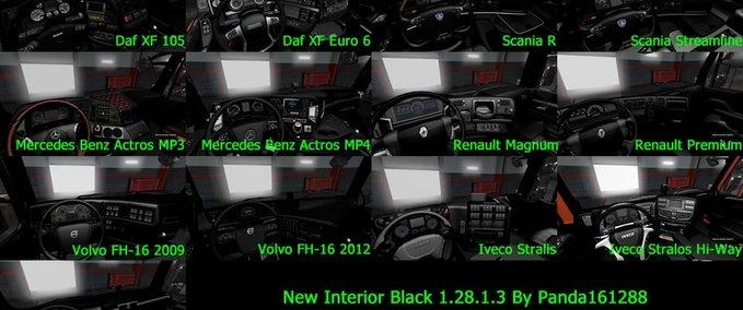 ets 2: Neues Interieur (dunkel) für alle LKWs (1.28.x) v 1.0 ...
