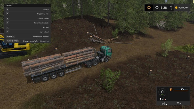 FS 17: Fliegl Timber Runner Wide With Autoload v 1 1 Trailers Mod