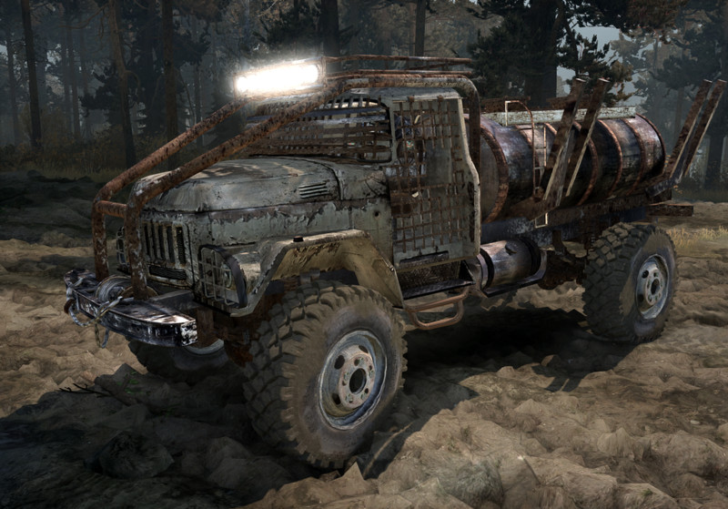 "Truck Mud Tires >> Spintires: Zil-131 ""Cracker"" for Spintires: Mudrunner v 1.0 Vehicles Mod für Spintires"