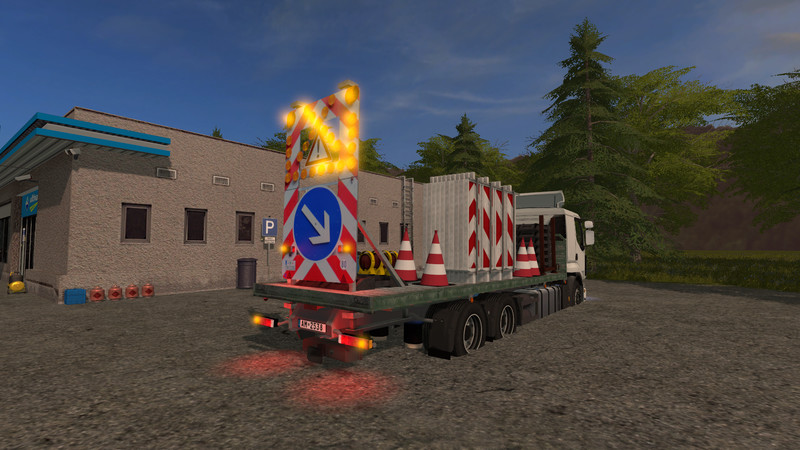 fs 17 traffic truck with warning structure with light decoration v 1 placeable objects mod. Black Bedroom Furniture Sets. Home Design Ideas
