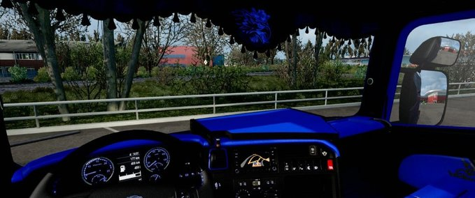 ets 2: Scania RJL CMI Blue/Black Interieur v update Interieurs Mod ...