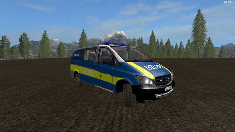 Fs 17 mercedes benz vito police skin v 1 0 fire for Mercedes benz route 17