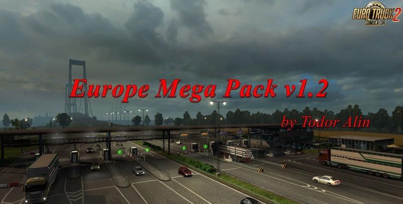 ets 2: Europe Mega Pack von Todor Alin v 1.55 AI Mod für ...