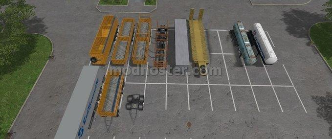 Packung-sattelauflieger
