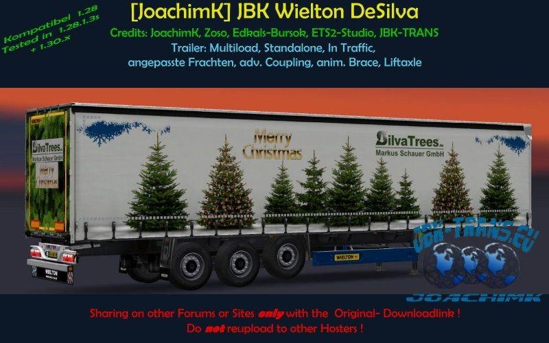 ETS 2: [JoachimK] JBK Wielton DeSilva Xmastrees v 1 Standalone