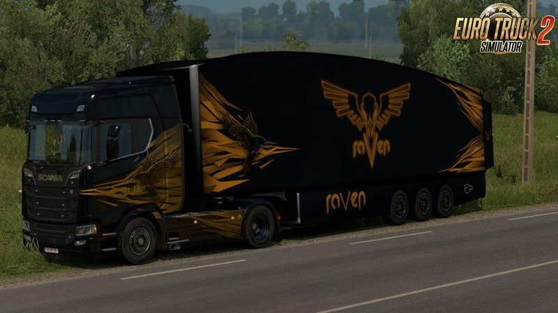 ETS 2: AeroDynamic Trailers v1 0 by AM for ETS2 [1 30 x] v