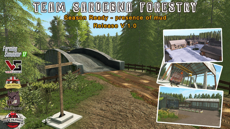 FS 17: TEAM SARDEGNA FORESTRY - SEASON READY v 2 0 Maps Mod für