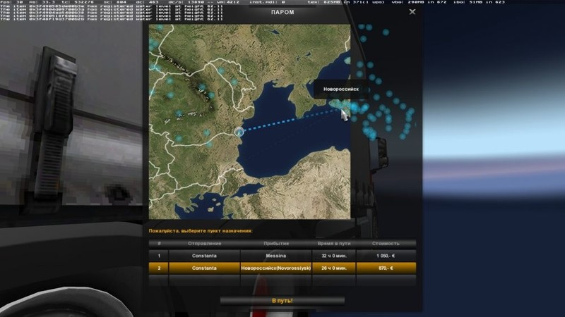 ETS 2: Ferry Connection for Maps: Promods, Southern Region, Italy