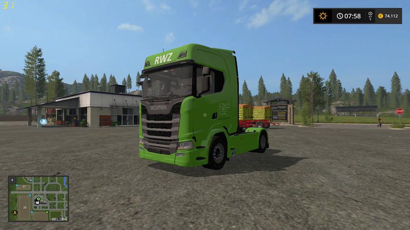 Ls 17 Scania S Raiffeisen Version V 2 0 Scania Mod F 252 R