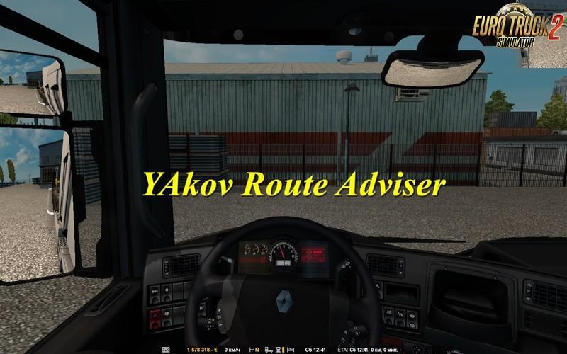 ETS 2: YAkov Route Adviser v1 1 [1 30 x] v 1 1 Other Mod für