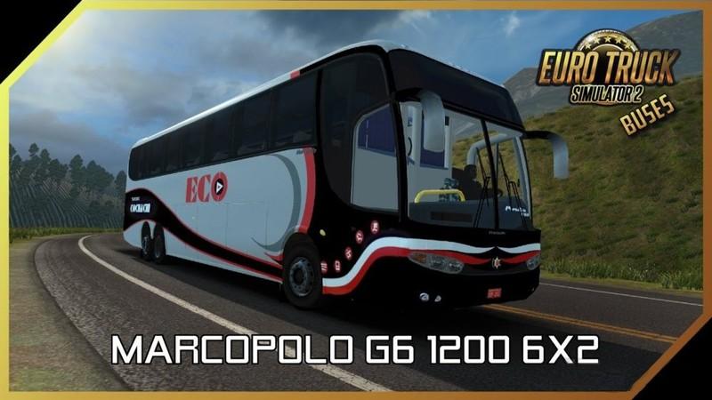 ETS 2: Marcopolo Paradiso G6 1200 LD 6×2 Bus [1 30 x] v 1 0