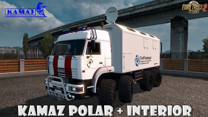 ets 2: KamAZ Polar + Interieur v1.0 von Voyna (1.30.x) v update ...