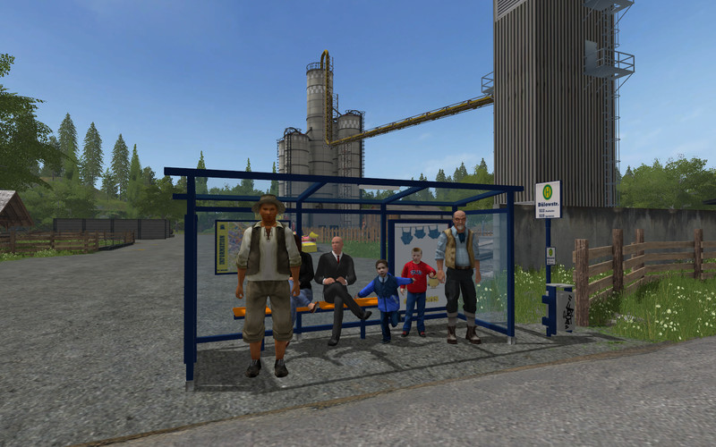 FS 17: 3 bus stops including ticket receipts v 1 0 Placeable