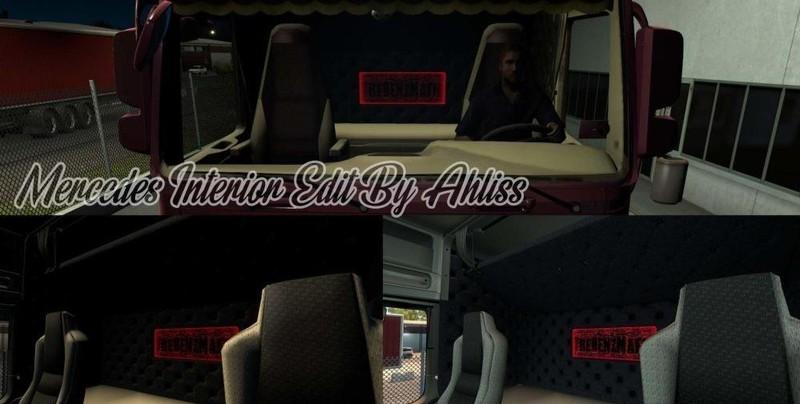 ets 2: Mercedes Actros MP3 von Capital + überarbeitetes Interieur ...