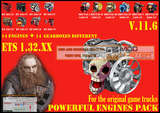 Pack-leistungsstarke-motoren-getriebe-v-11-6-fur-1-32-xx