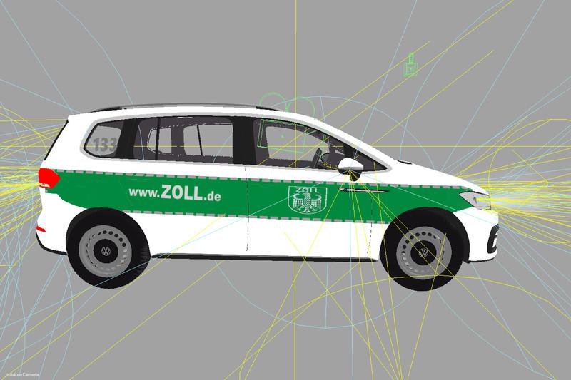 fs 17 vw touran adac skin v 2 0 other vehicles mod f r. Black Bedroom Furniture Sets. Home Design Ideas