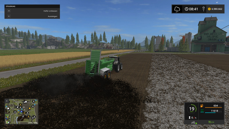 FS 17: Valley Crest Farm 4x v 1 7 9 Big Maps Mod für Farming
