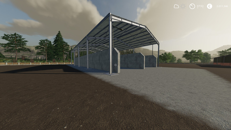 FS 19: Double Silage Silo Placeable v 1 Placeable Objects