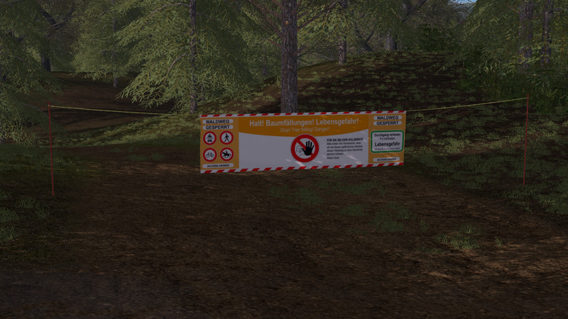 FS 17: Placable forestry warning signs v 1 0 0  Placeable