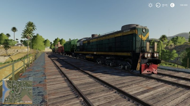 FS 19: Train locomotive v 1 0 Objects Mod für Farming Simulator 19