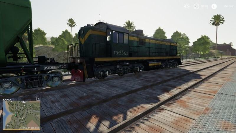 FS 19: Train locomotive v 1 0 Objects Mod für Farming
