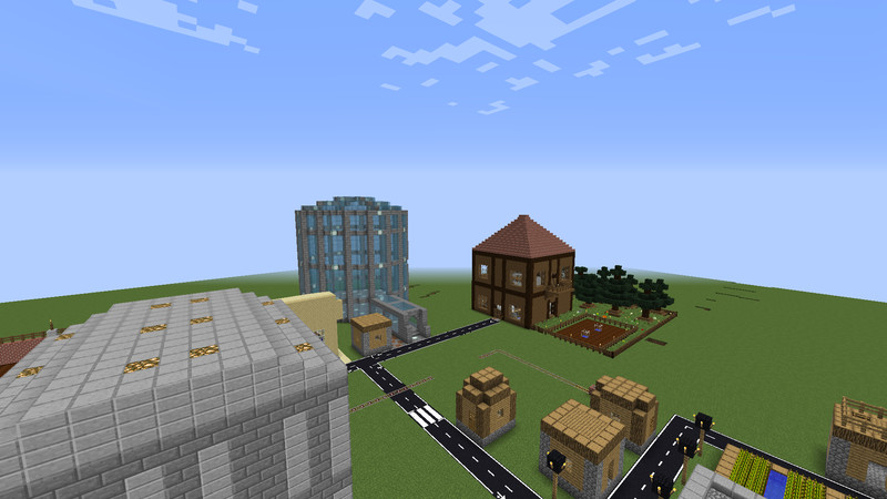 Minecraft: Small mod map (Improved Minecraft Village) v 1 0 Maps Mod