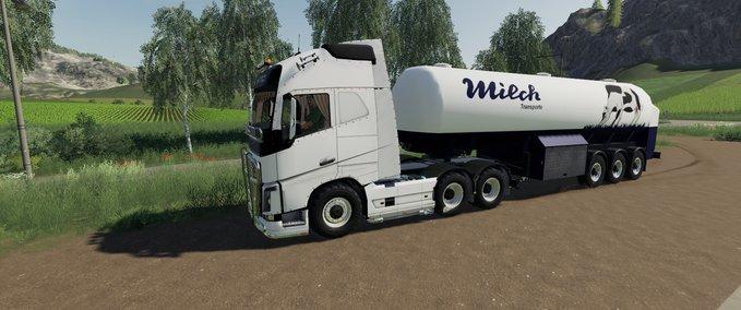 Milch-transport-auflieger