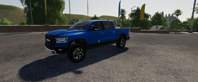 Dodge-ram-1500-blaue-rundumleuchte