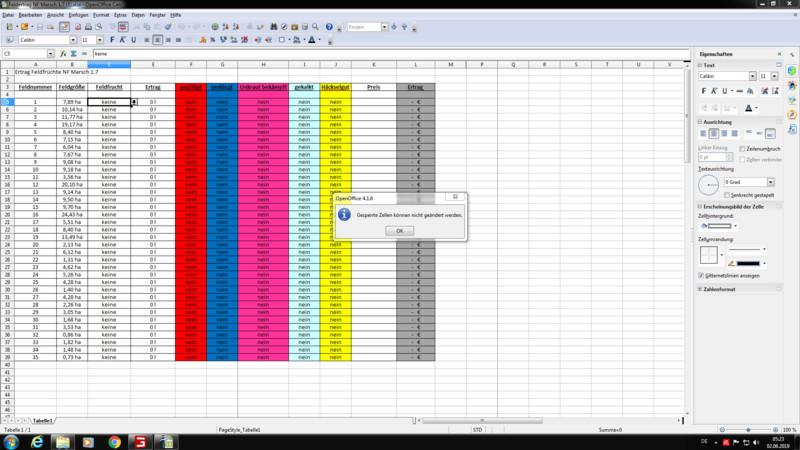 LS 19: Excel Für Den Feldertrag Der NF Marsch 1.7 V 1.1