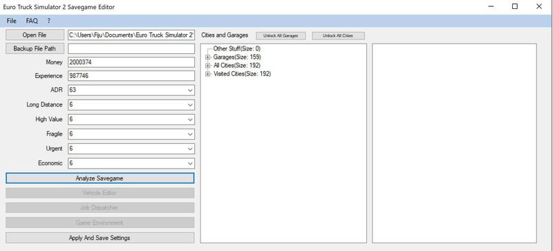 ets 2: Save Game Editor 1 35 x v 1 3 Tools Mod für Eurotruck
