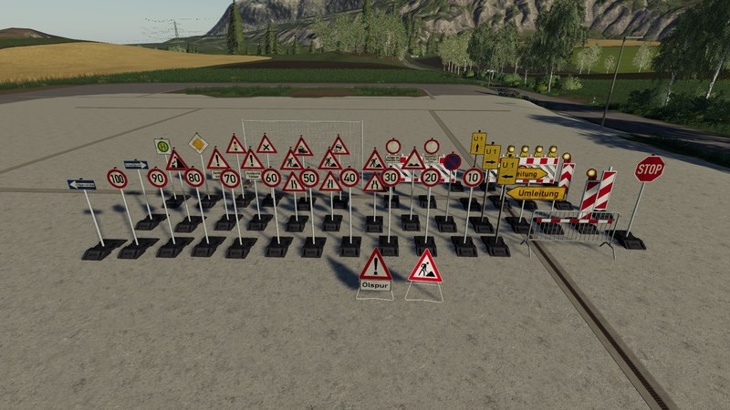 FS 19: Barrier pack placeable v 3 0 0 0 Placeable Objects