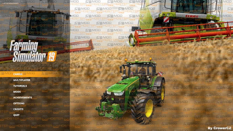 FS 19: FS19 MENU BACKGROUND - CLAAS COMBINES BY CROWERCZ v 1