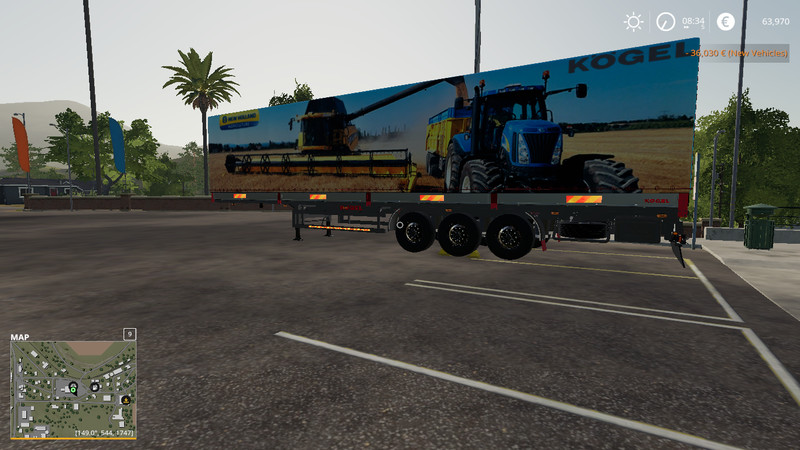 FS 19: FS19 NEW HOLLAND KOGEL AUTOLOADER TRAILER v 1