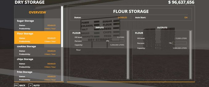 Warehouse-drystorage