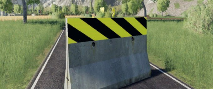 Dynamic-concrete-road-barrier-with-attacher