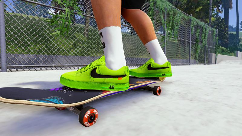 Skater XL: Custom Nike Air Force 1 Low Off-White v 1.0 Mod für ...