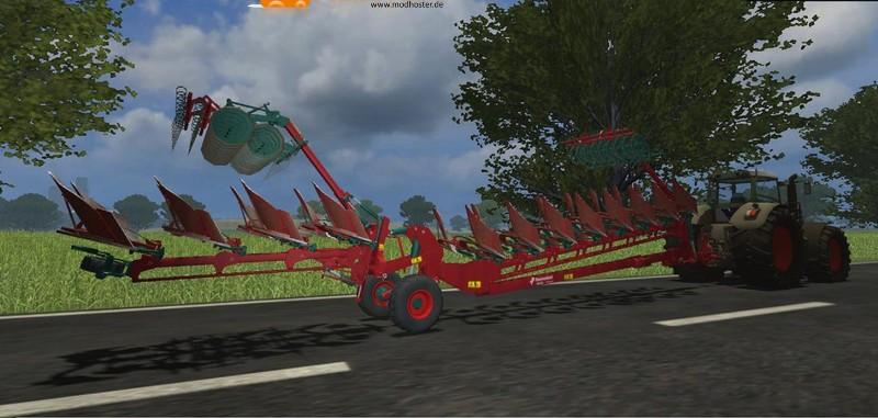 LS 2011: Kverneland 12 Schar Pflug Packer Set v Pflüge Mod ...