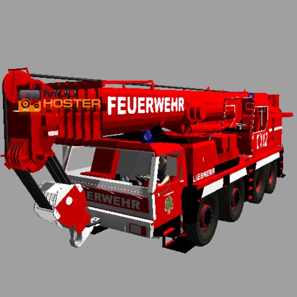 LS 2011 Feuerwehr Kranwagen V 2 LKWs Mod Fr