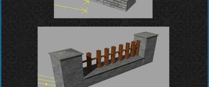 Fs 2011 Brick Fence Zaun V Objects Mod Fur Farming Simulator 2011